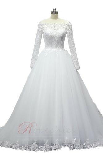 Robe de mariée Épaule Dégagée Eglise Manche Aérienne Formelle - Page 5