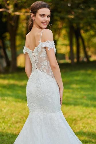 Robe de mariée Au Drapée Couvert de Dentelle Sexy Mancheron Tissu Dentelle - Page 5