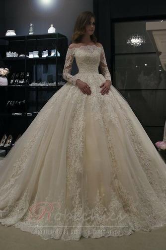 Robe de mariée Sage Automne Elégant Zip Perle Longue - Page 1