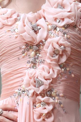 Robe de Soirée Printemps Fleurs A-ligne Sans Manches Fourreau pli - Page 4