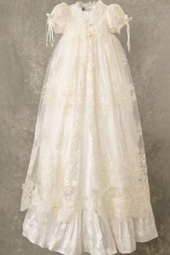 Robe de baptême Longue Princesse Automne Orné de Nœud à Boucle - Page 2