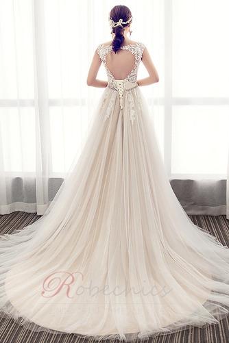 Robe de mariée Luxueux Poire Tissu Dentelle a ligne Col en V Haut Bas - Page 2