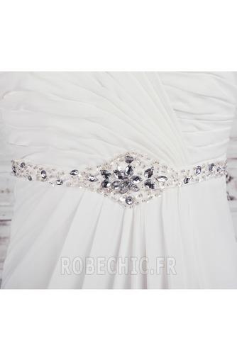 Robe de mariée taille haut Col en Cœur Cristal noble Sans Manches - Page 4