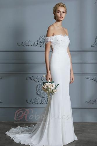 Robe de mariée Manquant Dos nu Épaule Dégagée Naturel taille Longue - Page 1