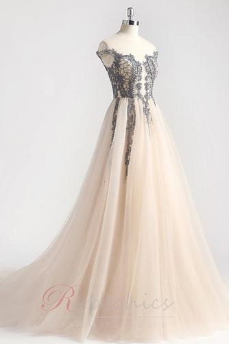 Robe de Bal Traîne Courte Zip Luxueux Norme a ligne Cristal - Page 8