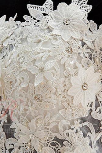 Robe de mariée Zip Bouton Épaule Dégagée Été De plein air Courte - Page 3