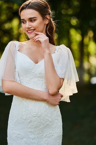 Robe de mariée Col Élisabéthain Appliques Exquisite Taille chute - Page 4