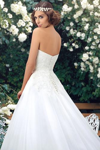 Robe de mariée col coeur Sans Manches Naturel taille Longue Bouton - Page 5