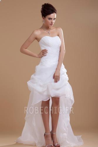 Robe de mariée Plage Avec Jacket Manquant Sans bretelles Pailleté - Page 2