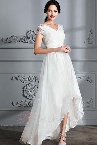 Robe de mariée Perle noble Asymétrique Plage Tulle Fourreau plissé - Page 3