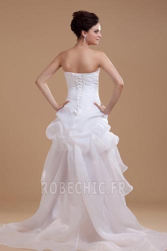 Robe de mariée Plage Avec Jacket Manquant Sans bretelles Pailleté - Page 4