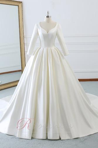 Robe de mariée Naturel taille Norme Plage Au Drapée Longue Automne - Page 1