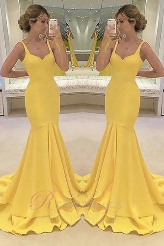 Robe de Soirée Sirène Zip Soie Norme Luxueux Automne - Page 1