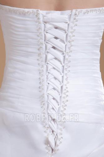 Robe de mariée Plage Avec Jacket Manquant Sans bretelles Pailleté - Page 8