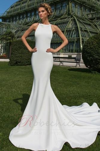 Robe de mariée Dos nu Appliquer Moderne Exquisite Traîne Moyenne - Page 1