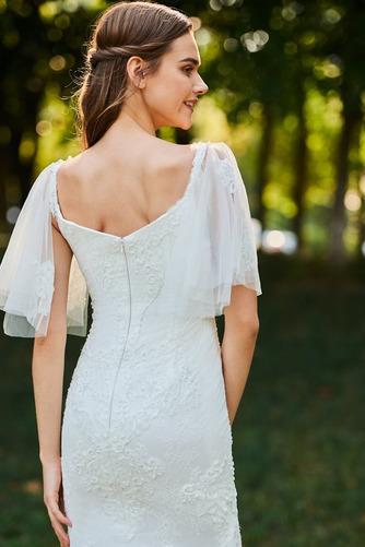Robe de mariée Col Élisabéthain Appliques Exquisite Taille chute - Page 5