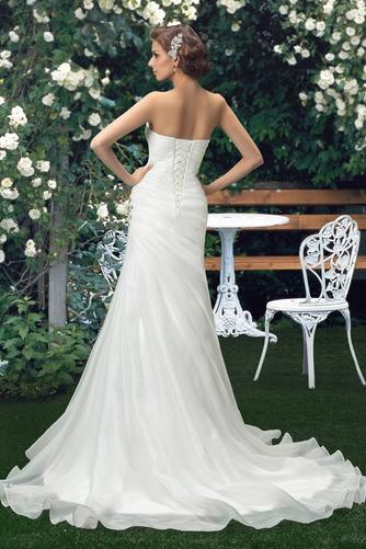 Robe de mariée Sommaire Rivage Sans Manches aligne col coeur Traîne Mi-longue - Page 3