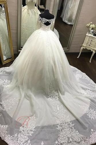 Robe de mariée Dentelle Naturel taille a ligne Longue Manche Aérienne - Page 3