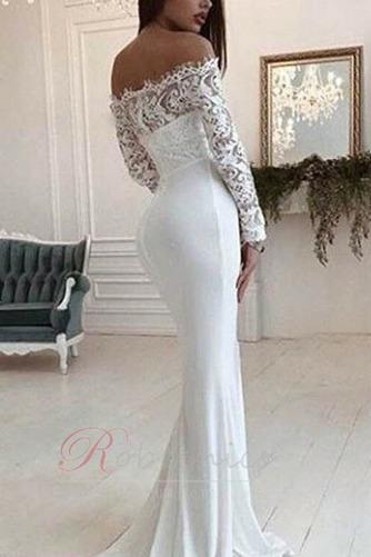 Robe de mariée Sirène Médium Appliques De plein air Manche Longue - Page 2