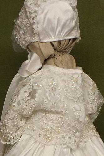 Robe de baptême Naturel taille Été Perlé Formelle Col ras du Cou - Page 2