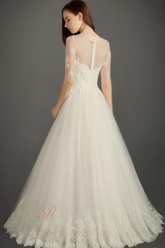 Robe de mariée Luxueux Automne Perler Plage Col ras du Cou Longueur ras du Sol - Page 2
