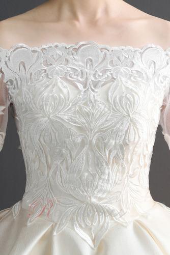 Robe de mariée Chaussez Satin Épaule Dégagée a ligne Appliques - Page 4