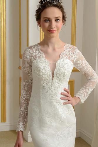Robe de mariée Ruché Fourreau Longue Désirable Mince Tissu Dentelle - Page 4