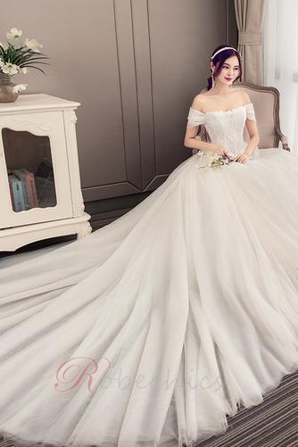Robe de mariée Été Manche Courte Salle Manquant Mancheron A-ligne - Page 5