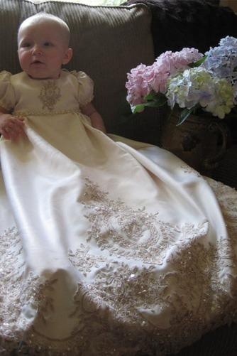 Robe de baptême Haute Couvert Manche Courte Princesse Automne - Page 1