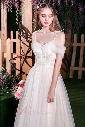Robe de mariée Plage Épaule Dégagée A-ligne Appliques Manquant - Page 5