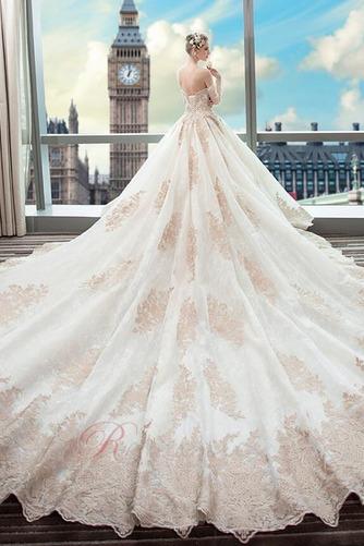 Robe de mariée Couvert de Dentelle Soie Formelle Long A-ligne - Page 2