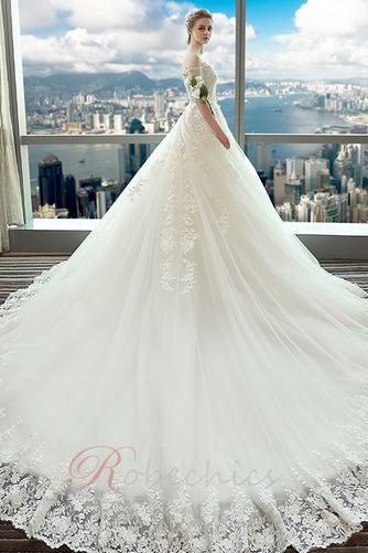 Robe de mariée Eglise Manche Aérienne Lacet Long Automne Formelle - Page 2