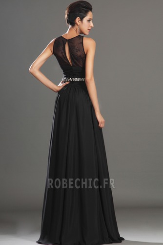Robe de Bal Thigh-High Slit Glamour Chiffon Sans Manches Ouverture Frontale - Page 6