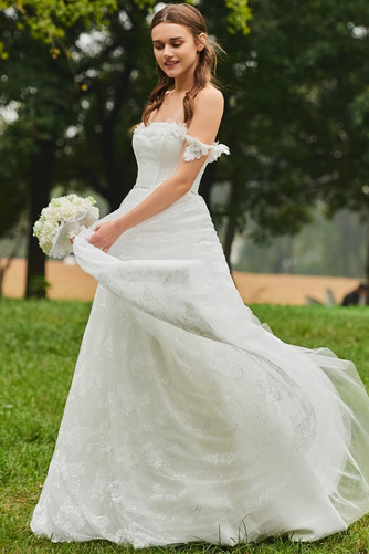Robe de mariée Dos nu Train de balayage De plein air Elégant Tissu Dentelle - Page 2
