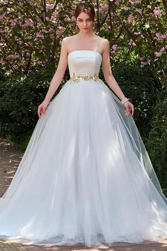 Robe de mariée Dos nu Sans bretelles Tulle Elégant Ample & Ornée - Page 1
