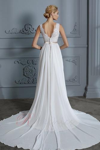 Robe de mariée Sans Manches Sommaire Bouton Manquant Couvert de Dentelle - Page 2