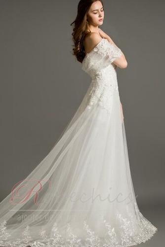 Robe de mariée De plein air A-ligne Couvert de Dentelle Naturel taille - Page 3