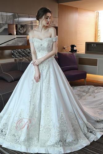 Robe de mariée Trou De Serrure Traîne Royal Naturel taille Couvert de Dentelle - Page 1