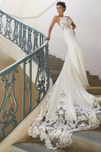 Robe de mariée Sirène Fermeture éclair Couvert de Dentelle Bretelles Spaghetti - Page 2