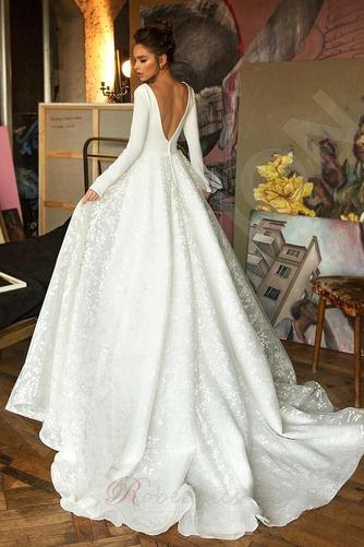 Robe de mariée Manche Longue Soie Couvert de Dentelle aligne Naturel taille - Page 2