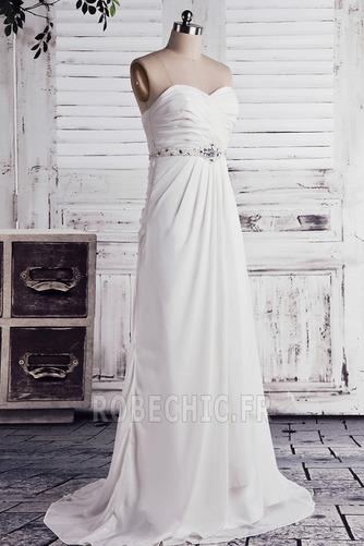 Robe de mariée taille haut Col en Cœur Cristal noble Sans Manches - Page 2
