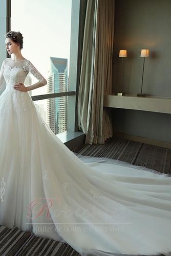 Robe de mariée Lacez vers le haut Manche de T-shirt Elégant Tulle - Page 2