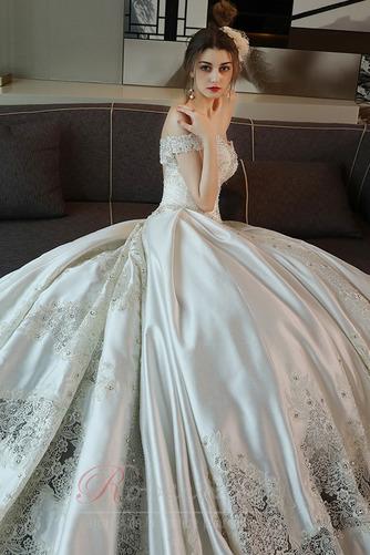 Robe de mariée Trou De Serrure Traîne Royal Naturel taille Couvert de Dentelle - Page 5