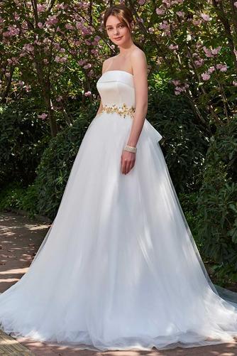Robe de mariée Dos nu Sans bretelles Tulle Elégant Ample & Ornée - Page 3