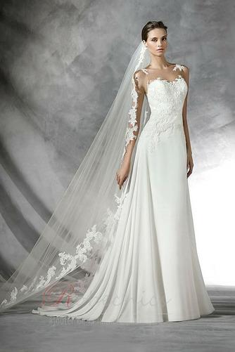 Robe de mariée Traîne Courte Gazer Sans Manches vogue Printemps - Page 1