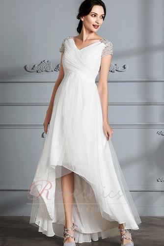 Robe de mariée Perle noble Asymétrique Plage Tulle Fourreau plissé - Page 5