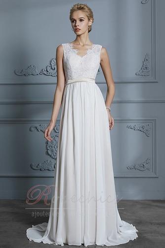 Robe de mariée Sans Manches Sommaire Bouton Manquant Couvert de Dentelle - Page 4
