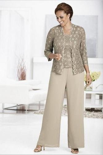Robe de mère pantalon de costume Longueur Cheville Chiffon Automne - Page 1