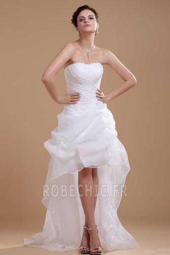 Robe de mariée Plage Avec Jacket Manquant Sans bretelles Pailleté - Page 1