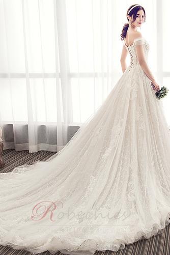Robe de mariée Longue Perle Elégant Épaule Dégagée Chaussez A-ligne - Page 2